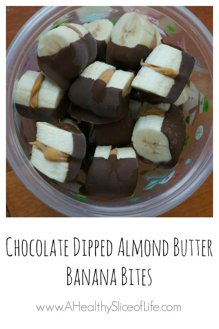 chocolate dipped banana bites