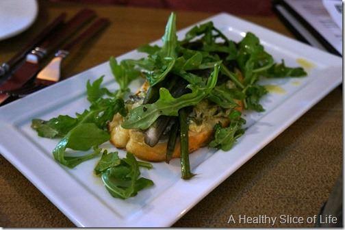 fork restaurant- Cornelius- asparagus bruschetta