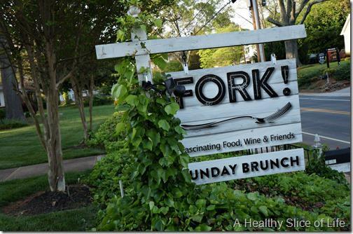 fork restaurant- Cornelius- sign
