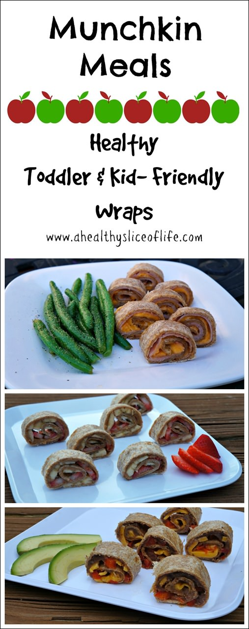 munchkin meals- healthy toddler wrap combos