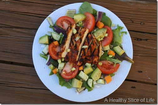 bbq grilled chicken salad