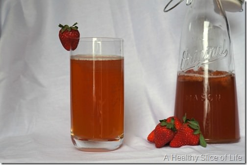 how to brew kombucha at home- strawberry