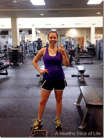 9 weeks postpartum gym