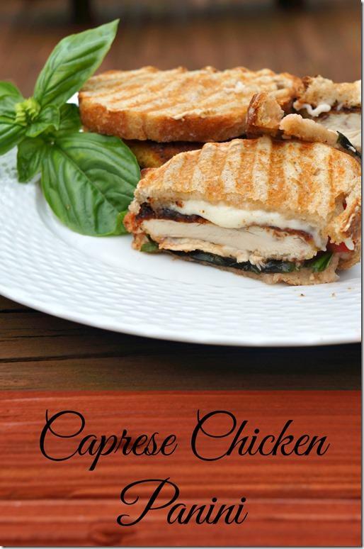 caprese chicken panini
