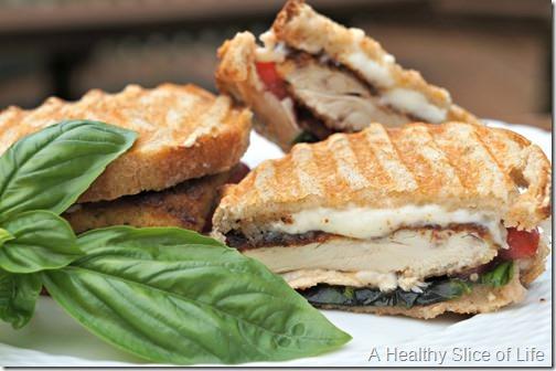 caprese panfried chicken panini