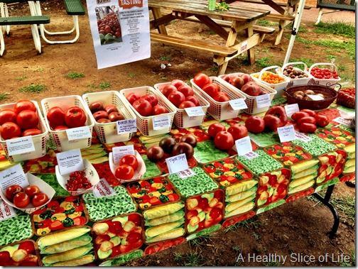 davidson farmers market tomato tasting