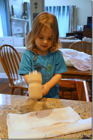 kids in the kitchen- chicken