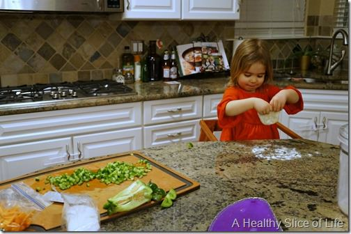 kids in the kitchen- pizza dough