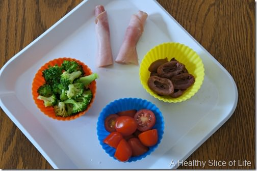 toddler baking cup lunch