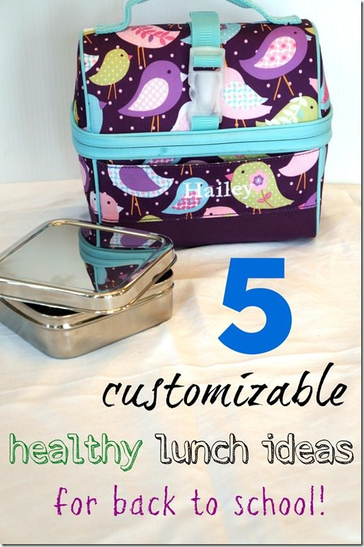5 healthy unique back to school lunches