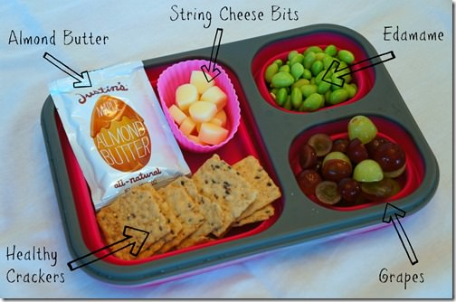 back to school healthy lunch- snack plate