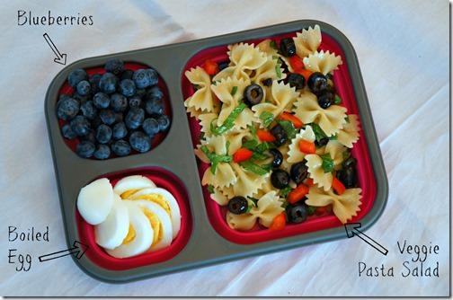 back to school healthy lunch- veggie pasta