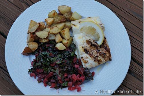 grilled halibut