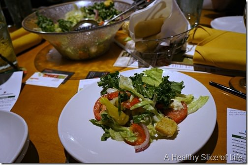 olive garden tastes- salad toppers- kale, mozz and