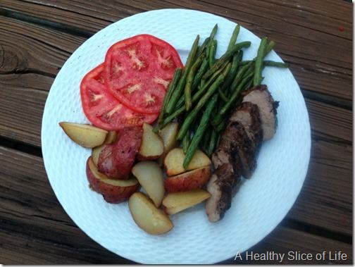 pork tenderloin and veggies
