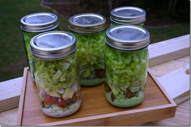 salad jar food prep
