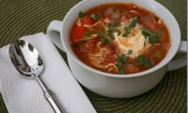 Simple & Spicy Chicken Tortilla Soup