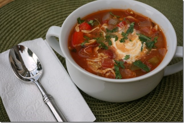 simple and spicy chicken tortilla soup yum