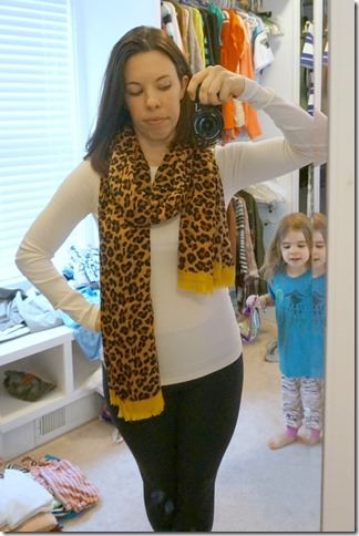 fall staple- leopard scarf