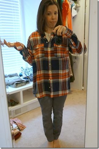 fall staple- plaid button down