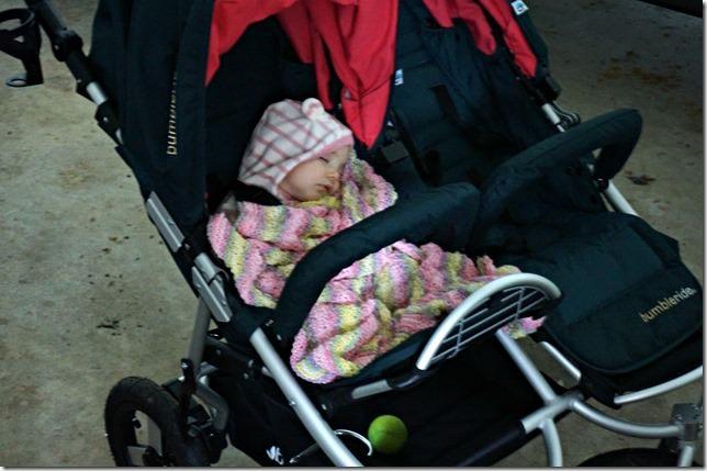 kaitlyn- 5 months- stroller nap
