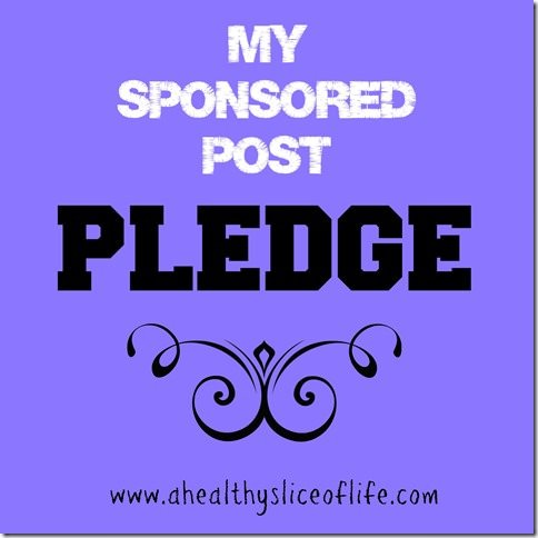 my pledge to you about sponsored posts