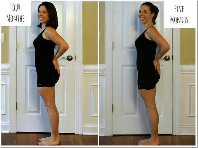 postpartum pictures 4 to 5 months side 1