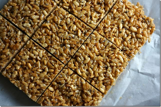coconut chia crispy rice treat- 1