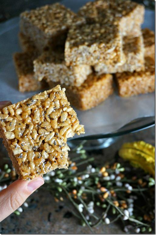 coconut chia crispy rice treat- 2