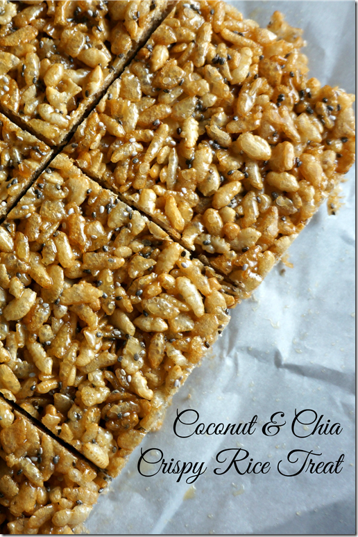 coconut chia crispy rice treat- so delicious- tastes like the original