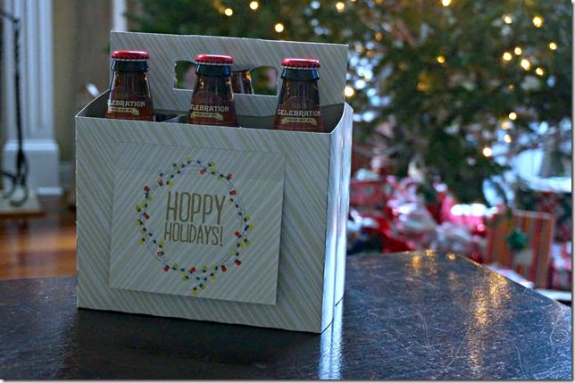 beer six pack greeting card