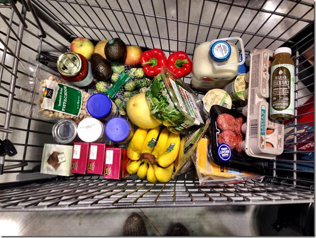 busy week meal planning- grocery trip