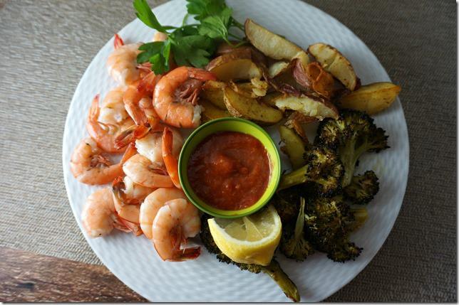 shrimp-dinner-roasted-potatoes