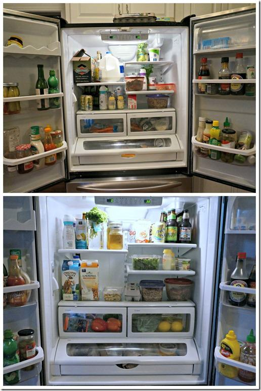 fridge organization before and after
