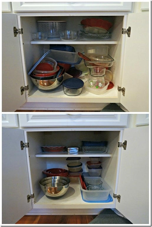 kitchen lower cabinets organization