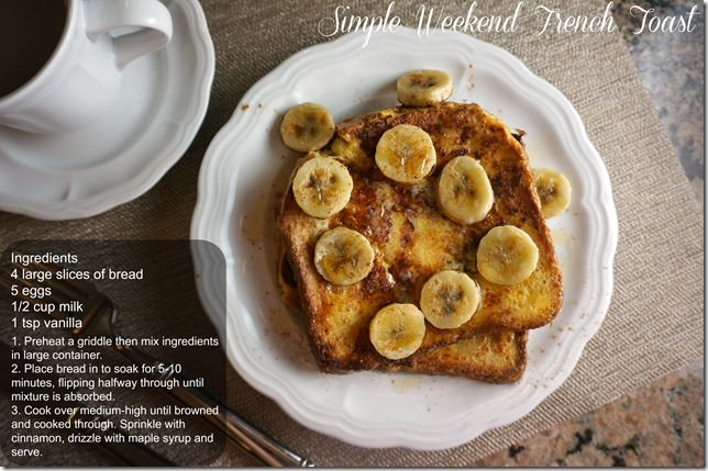simple weekend french toast