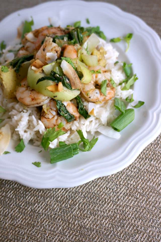 Blue Arpon- Chinese Five Spice Shrimp with Coconut Rice