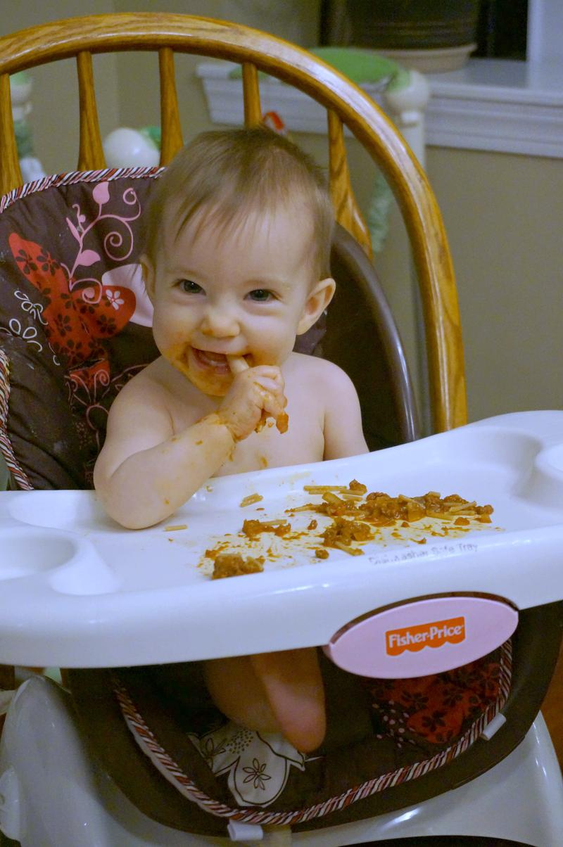 Baby led weaning 8 month meals spaghetti