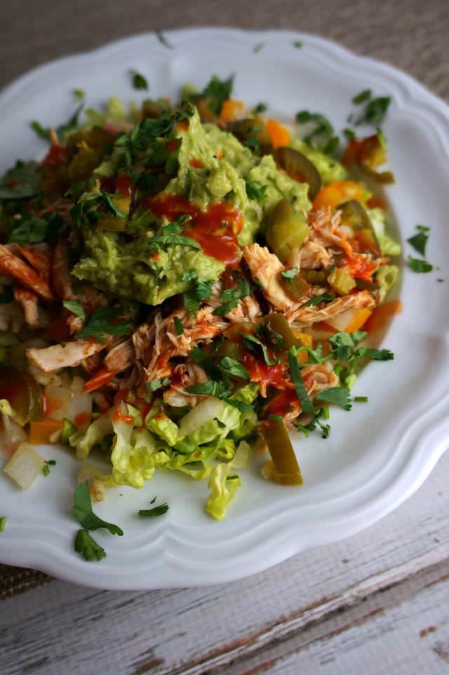 crockpot salsa layered burrito bowls