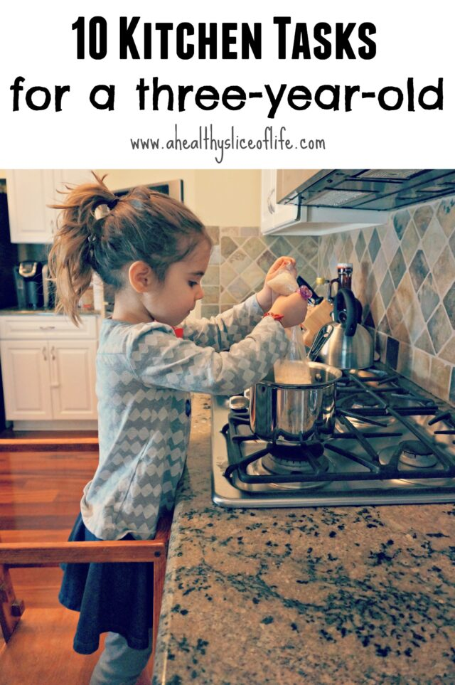 kitchen tasks perfect for a three year old to help with