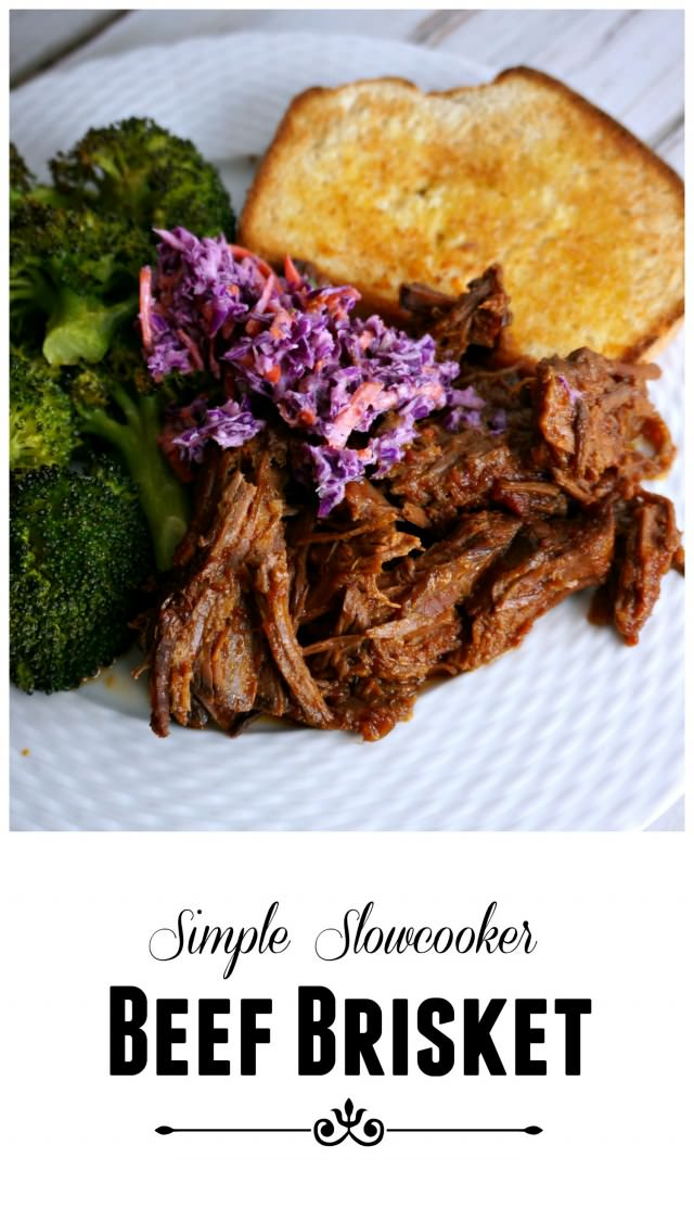 simple perfectly done slowcooker beef brisket