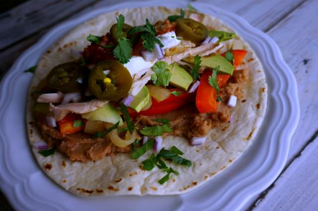 simple rotisserie fajitas