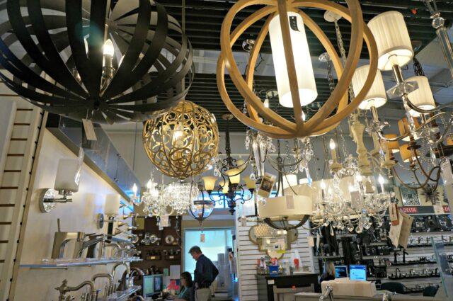 master bath- chandelier