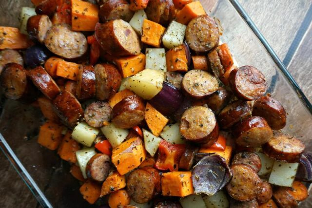 paleo potato and sausage bake