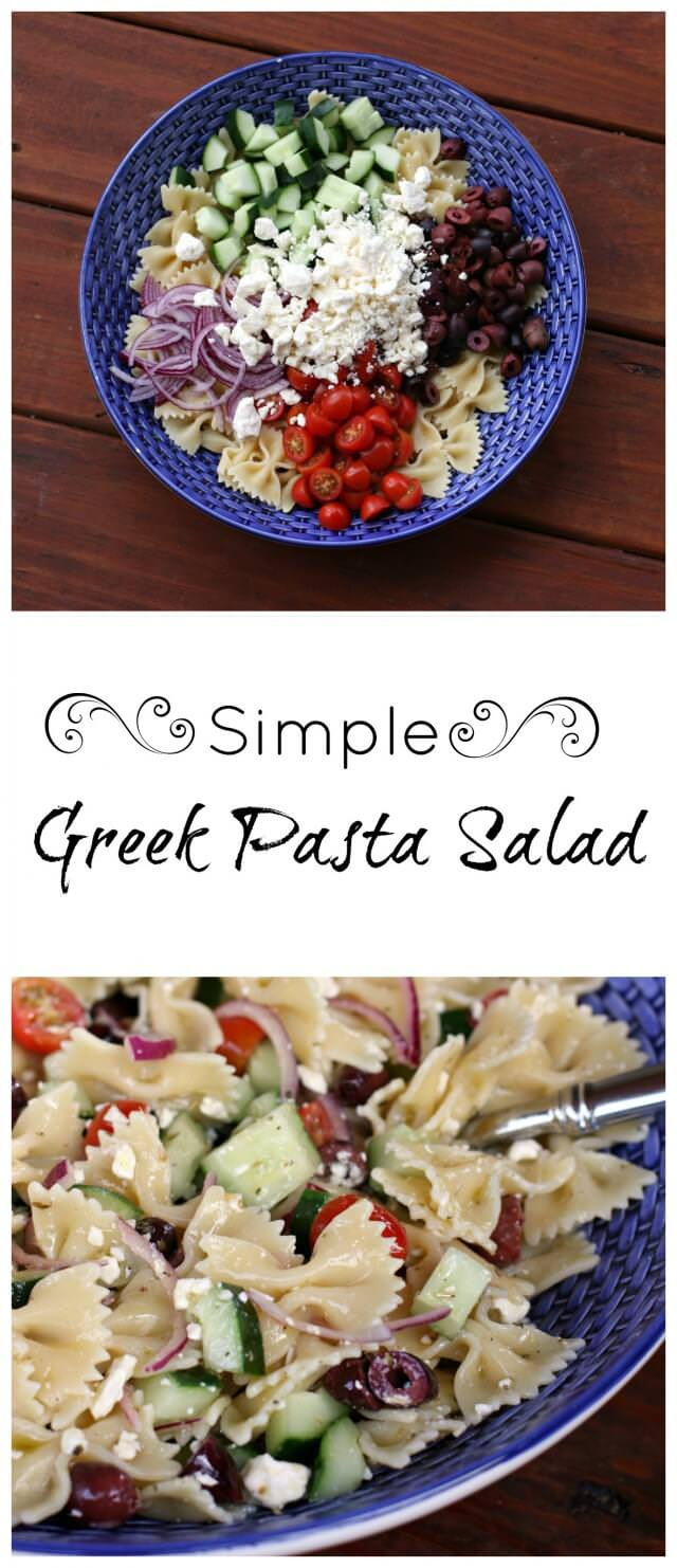 simple greek pasta salad- perfect for a light spring dinner