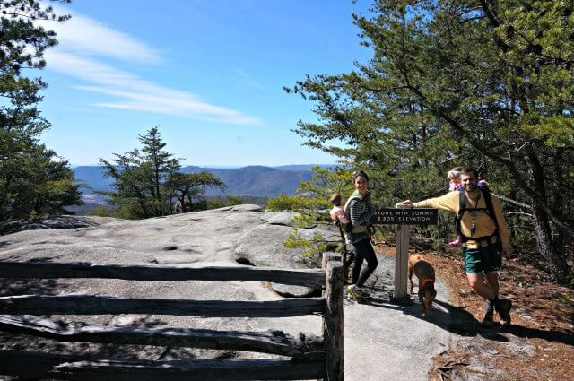 stone mountain state park north carolina- summit elevation