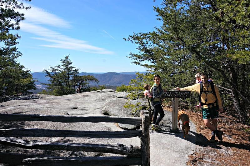 Elevation Gain Stone Mountain Hike : Stone mountain state park nc