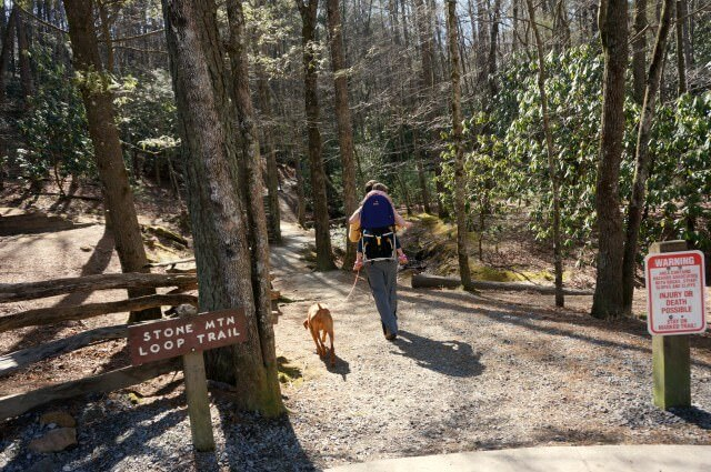 stone moutain state park north carolina- loop trail