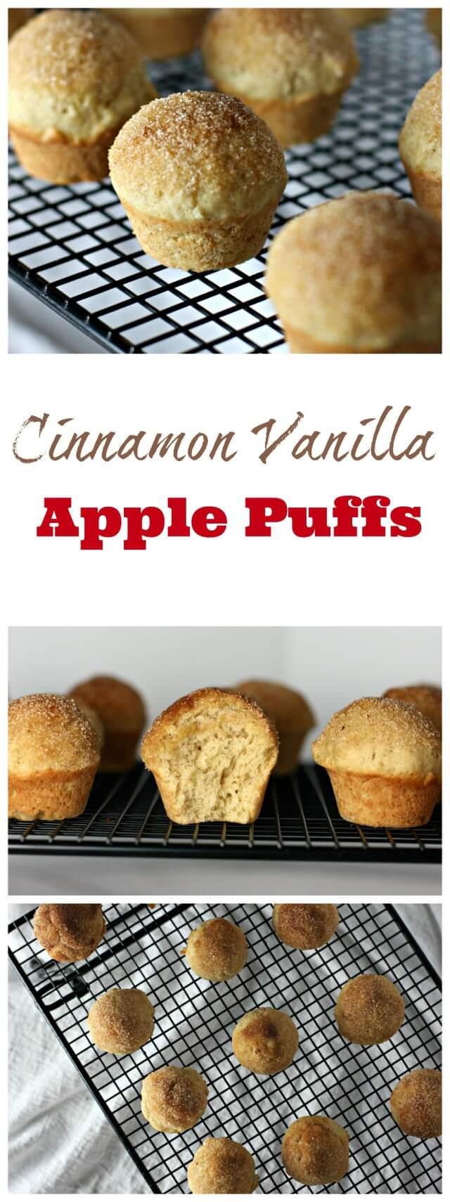 vanilla cinnamon apple puffs- taste just like munchkin donuts!
