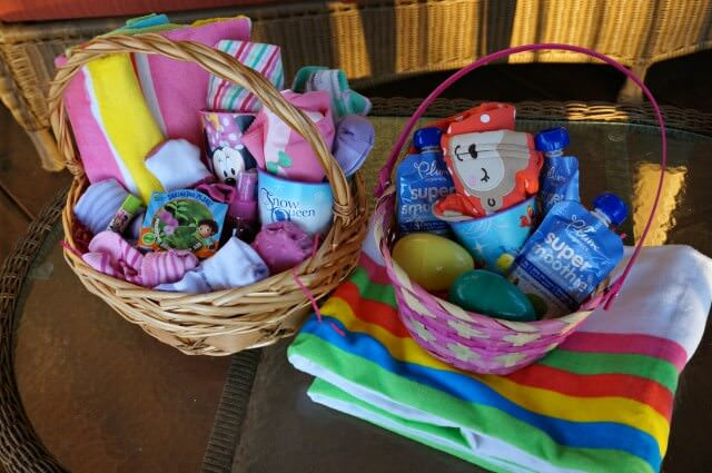 Easter baskets - 3 years and 10 months
